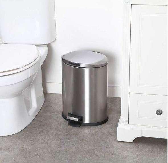 13 gallon kitchen trash can pictures of outdoor kitchens home zone 3加仑不锈钢脚踩式垃圾桶 折扣信息 本地特价 佛罗里达华人 脚踩设计的垃圾桶 比自动感应的要便宜很多 而且平时倒垃圾的时候 也不需要用手触碰垃圾桶盖 非常方便 放厨房 卫生间里都不错