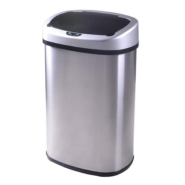 13 gallon kitchen trash can sink soap dispenser itouchless 厨房感应除臭13加仑垃圾桶 本地特价 洛杉矶华人资讯网 13加仑厨房垃圾桶
