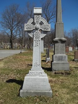 Photograph of the Conroys' grave, courtesy of Graceti at FindaGrave.com