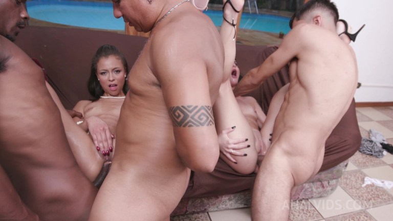 Hot 3on2 orgy with Candy Crush and Polly Petrova (DP, DAP, Piss Drinking) YE131