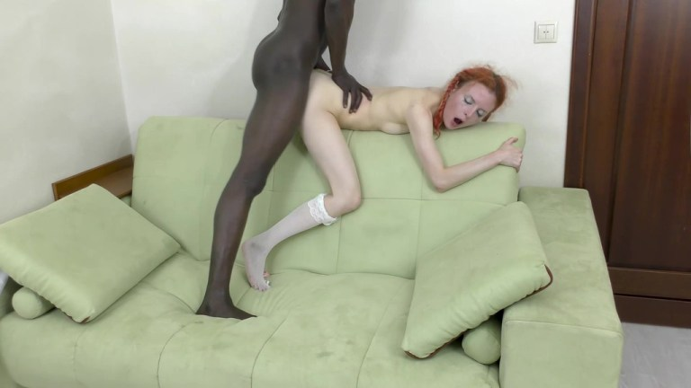 Black guy assfucked schoolgirl Eva Strawberry (dry version) MS124