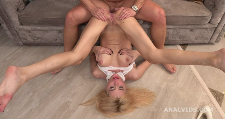 Mr. Anderson's Anal Casting, Liana welcome to porn with Balls Deep Anal, Gapes and Cum in Mouth GL315