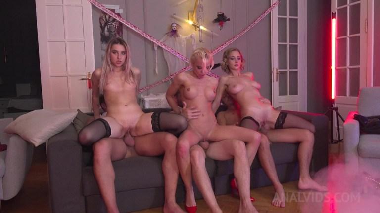 Anally Vampire Halloween party ! DAP (double anal) and DP with three vampires - Loren Strawberry, WhiteNeko, Lara Frost NRX038