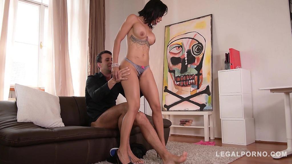 Irresistible curvy Latina maid Canela Skin sucks & fucks big dick for cum GP242
