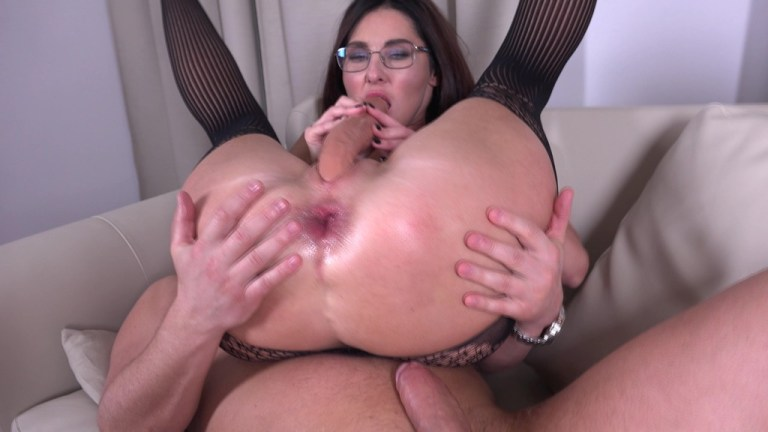 First Anal Casting Hot Milf Eva Black from Mr. Anderson MS097