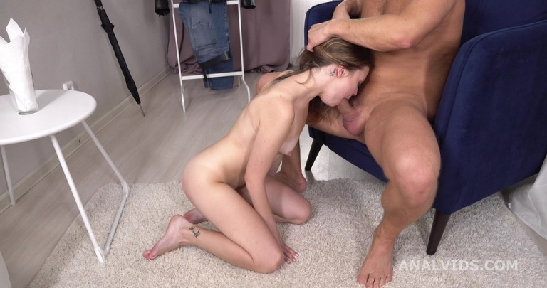 Mr. Anderson's Anal Casting, Bella Grey welcome to porn with Balls Deep Anal, Gapes and Cum in Mouth GL318