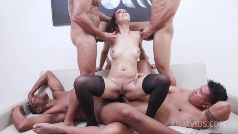 Amanda Borges 6on1 Gangbang with DP, DAP and Triple Penetration YE092