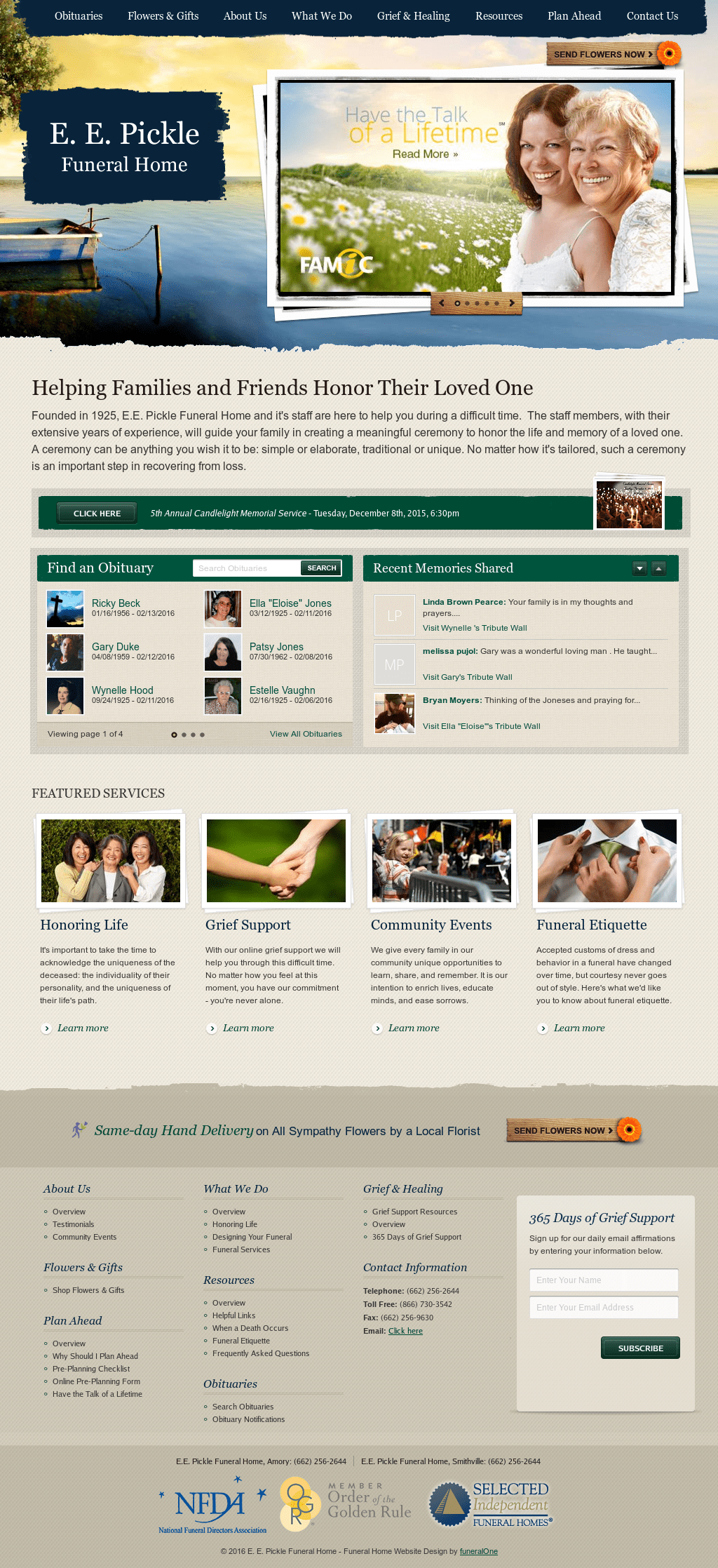 Best Kitchen Gallery: Fortable Funeral Home Website Design Pictures  Inspiration Home Of Funeral Home Website