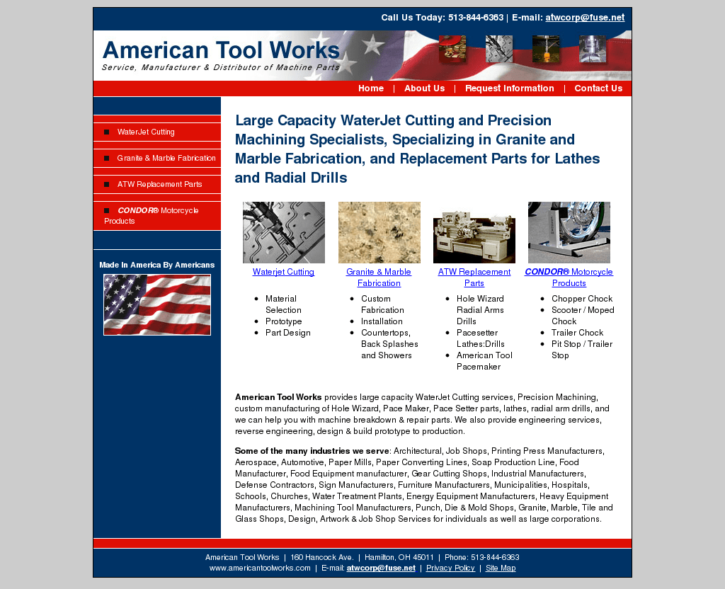American Tool Works Lathe Parts