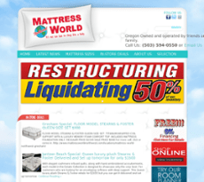 Mattress World Website History