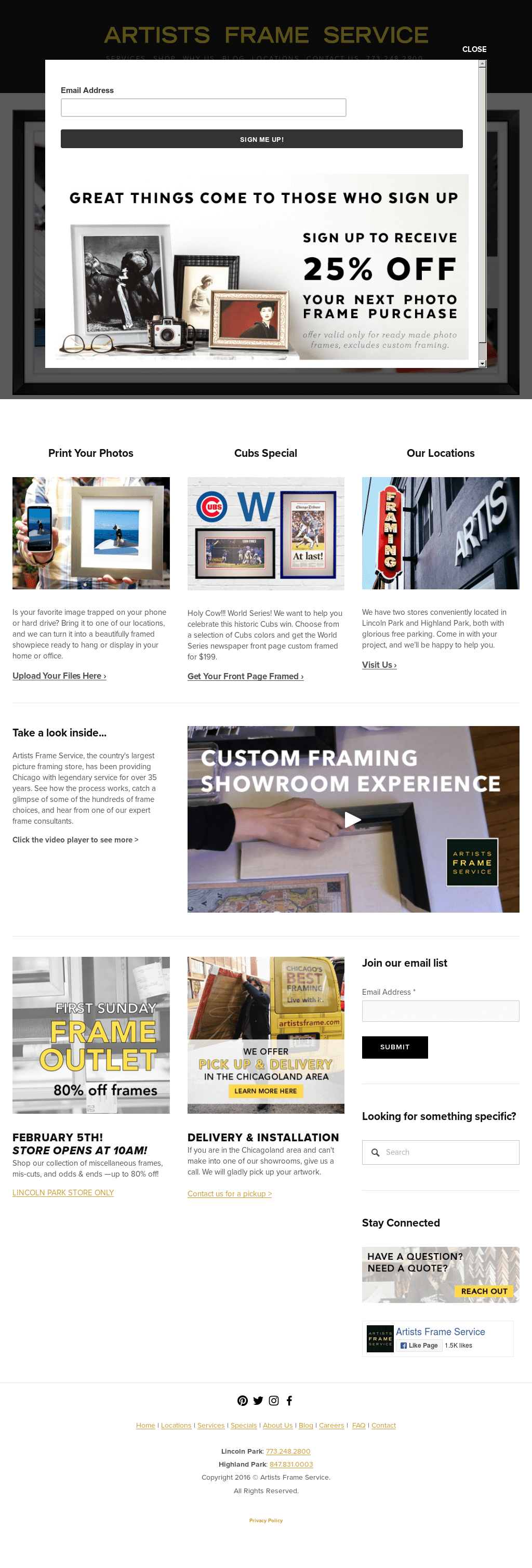 artists frame service chicago | Siteframes.co
