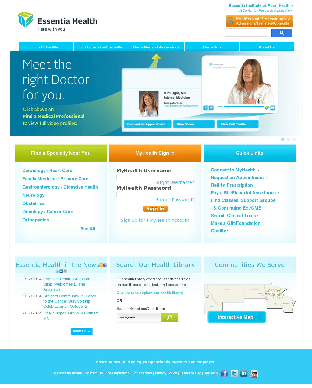 My Health Essentia My Health Login : health, essentia, login, Essentia, Health's, Competitors,, Revenue,, Number, Employees,, Funding,, Acquisitions, Owler, Company, Profile