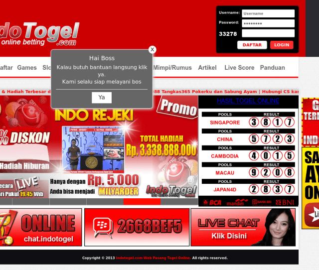 Indotogel Com Web Pasang Togel Online Competitors Revenue And