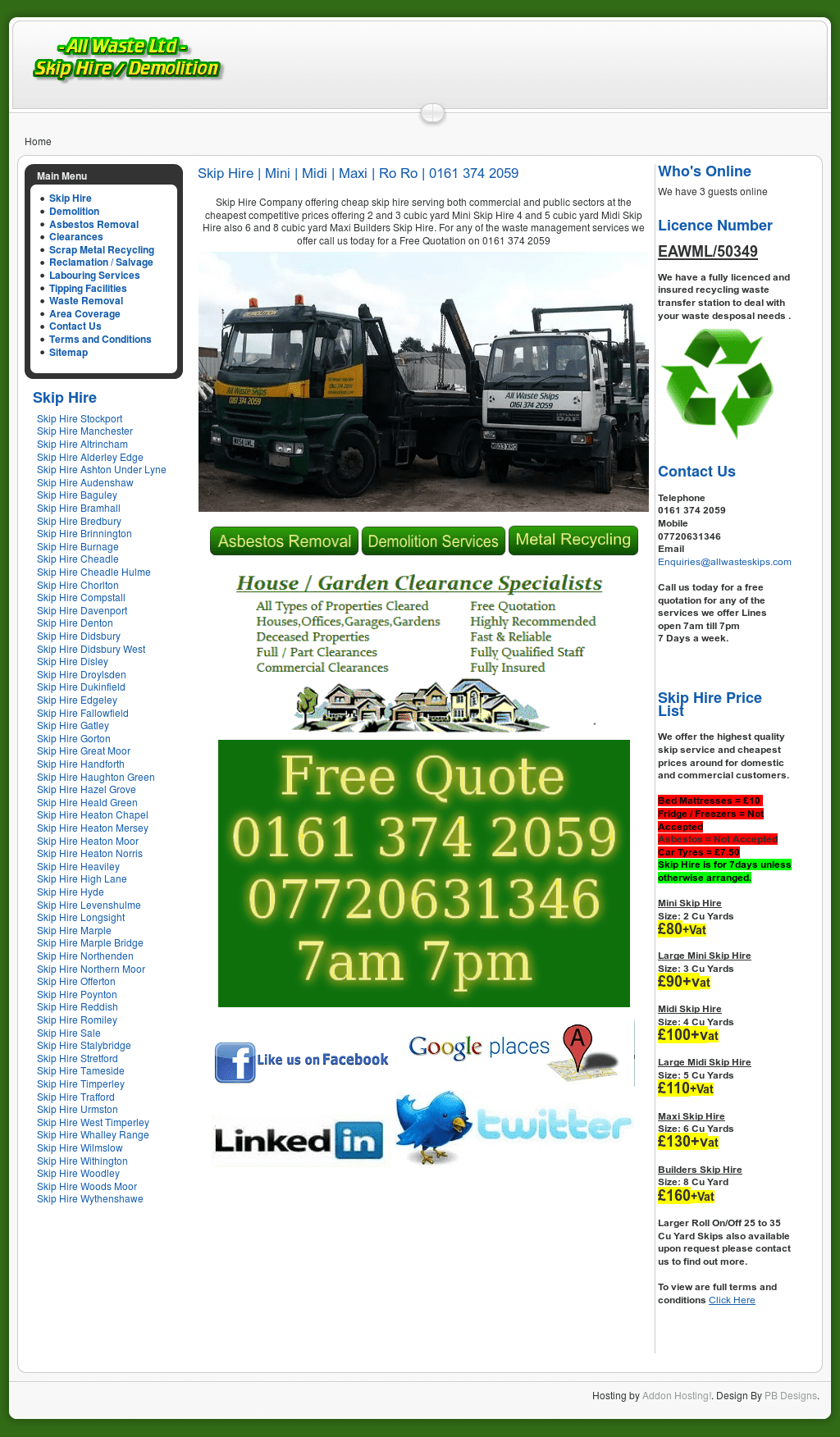 All Waste Skip Hire Stockport, Manchester, Wilmslow, Altrincham  Competitors, Revenue And Employees - Owler Company Profile