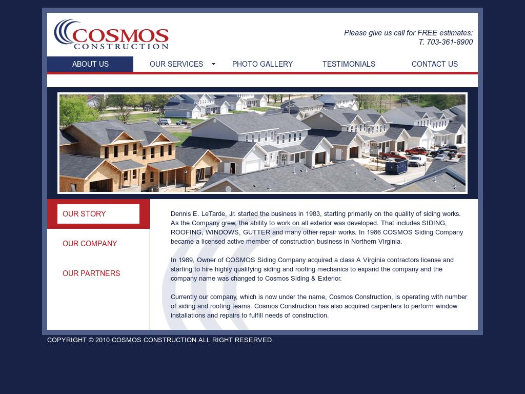 cosmos construction competitors revenue