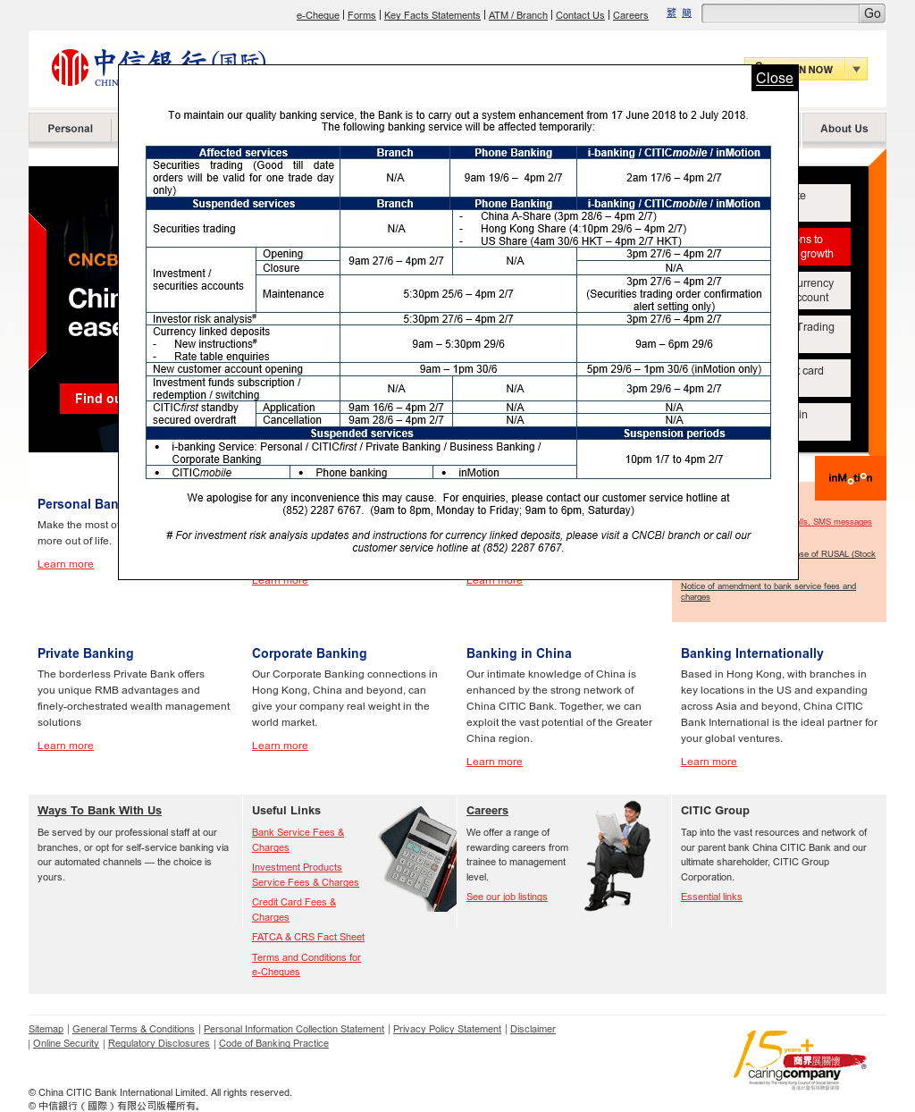 China Citic Bank International Ltd - sleek body method
