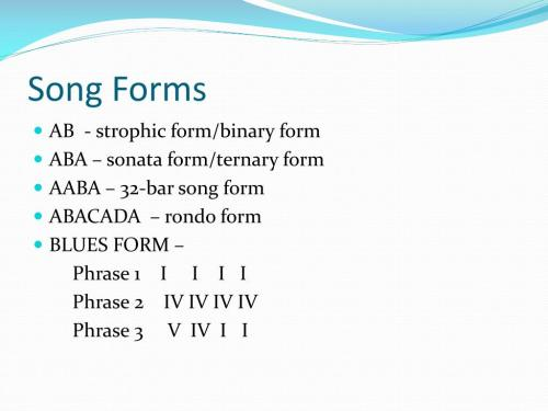small resolution of song forms