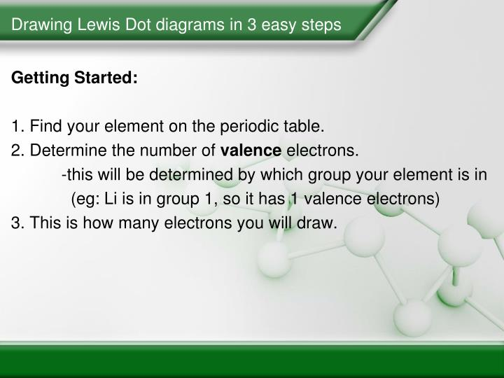 lewis dot diagram steps electrical outlet switch wiring ppt diagrams powerpoint presentation id 3646825 drawing in 3 easy