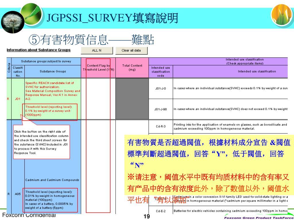 PPT - JPGSSI SURVEY 填寫說明 PowerPoint Presentation. free download - ID:3694617