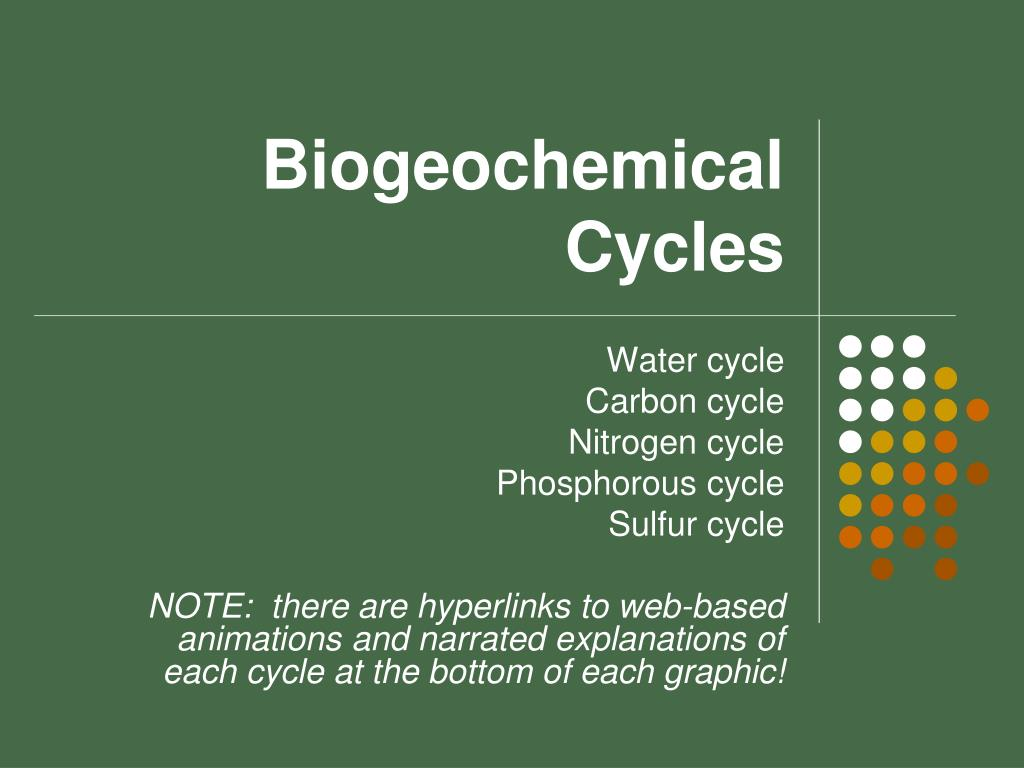 hight resolution of biogeochemical cycles powerpoint ppt presentation