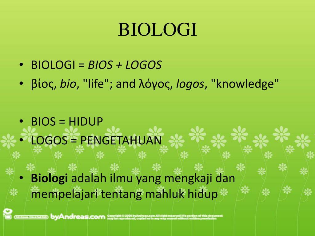 Ornitologi adalah salah satu cabang ilmu biologi yang mempelajari tentang hewan golongan aves (burung). PPT - RUANG LINGKUP, OBJEK, DAN PERMASALAHAN BIOLOGI