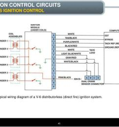 typical wiring diagram of a v 6 distributorless direct fire ignition  [ 1024 x 768 Pixel ]