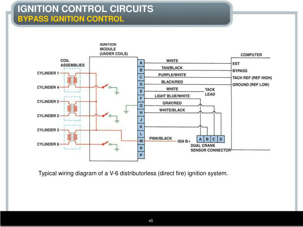 hight resolution of typical wiring diagram of a v 6 distributorless direct fire ignition