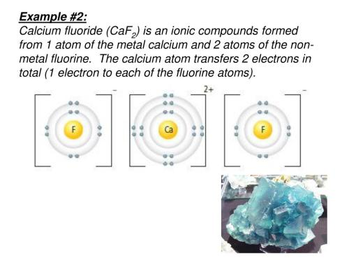 small resolution of the calcium atom transfers 2 electrons in total 1 electron to each of the fluorine atoms