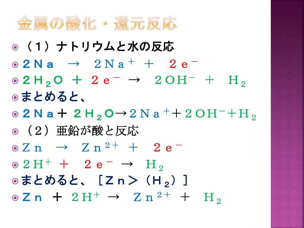 PPT - (1)硫酸銅( Ⅱ )水溶液に亜鉛を入れる PowerPoint Presentation - ID:3843292