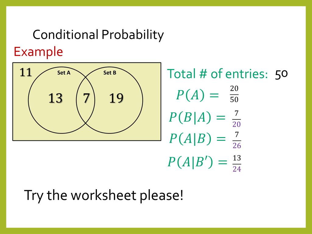 hight resolution of conditional probability