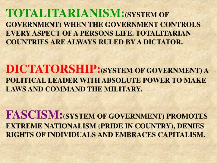 PPT - TOTALITARIANISM PowerPoint Presentation - ID:3898500
