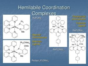 PPT  Hemilabile Coordination Complexes as Fluorescent Chemosensors The Groundwork: RuPOMe