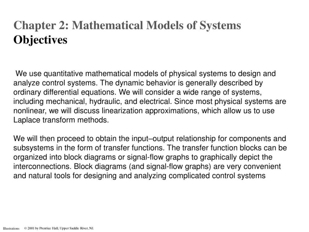 medium resolution of the dynamic behavior is generally described by ordinary differential equations we will consider a wide range of systems