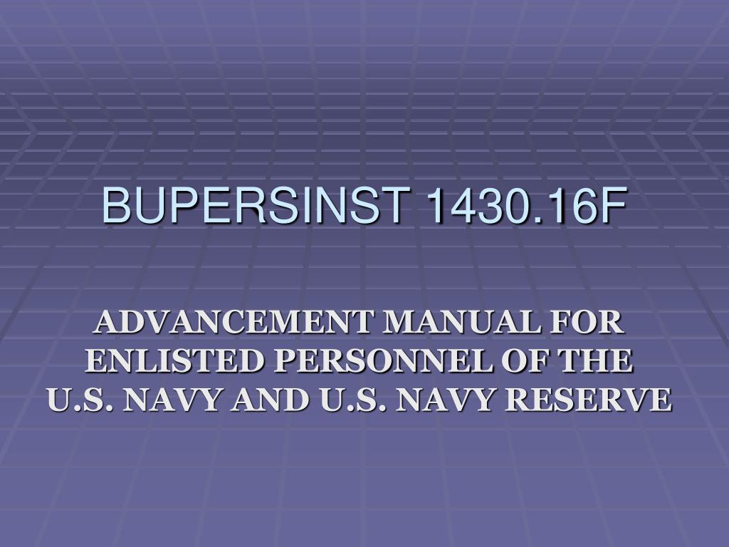 Bupersinst 16