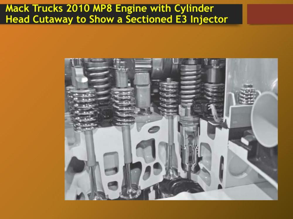 medium resolution of mack trucks 2010 mp8 engine with cylinder head cutaway to