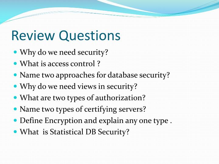 Security And Dbms Authorization Database