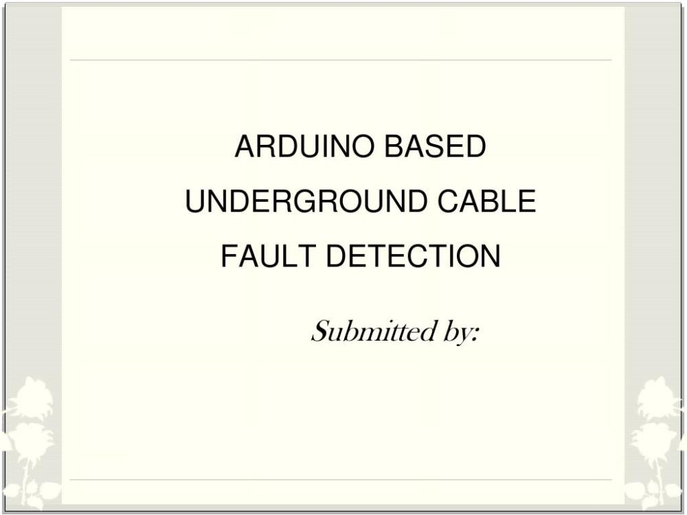 medium resolution of arduino based underground cable fault detection powerpoint ppt presentation