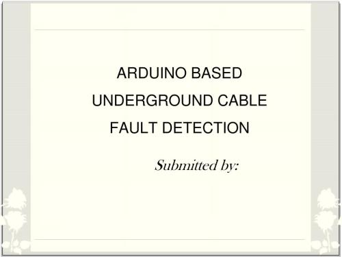 small resolution of arduino based underground cable fault detection powerpoint ppt presentation