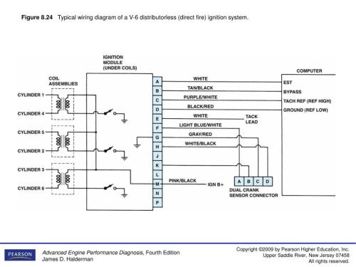 small resolution of figure 8 24typical wiring diagram of a v 6 distributorless direct fire ignition