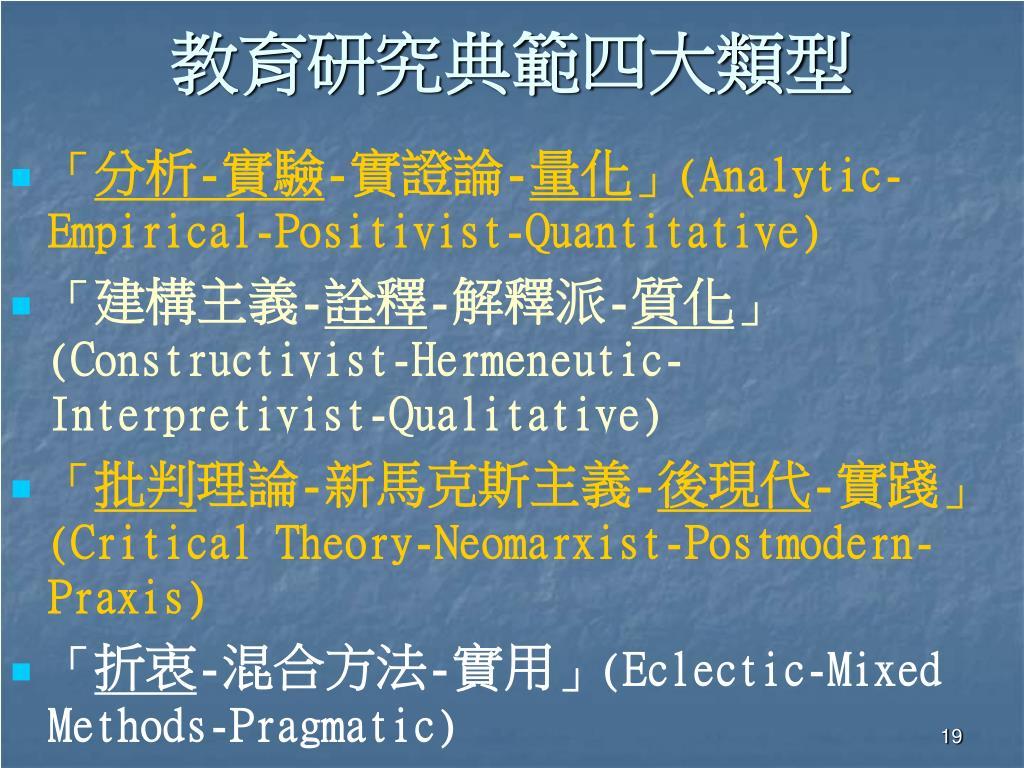 PPT - 教育研究方法論: 觀點與方法學術研討會 PowerPoint Presentation - ID:4074316