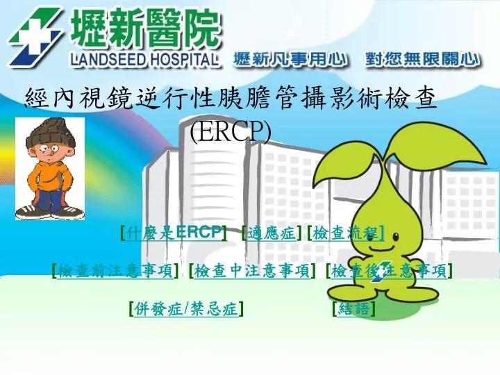 PPT - 經內視鏡逆行性胰膽管攝影術檢查 (ERCP) PowerPoint Presentation - ID:4075319