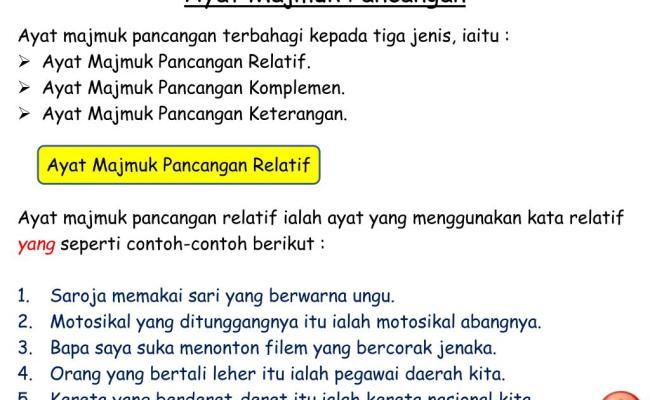 Contoh Ayat Majmuk Pancangan Relatif Contoh Yes Cute766