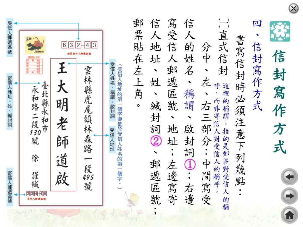 PPT - 書 信 PowerPoint Presentation, free download - ID:4093407