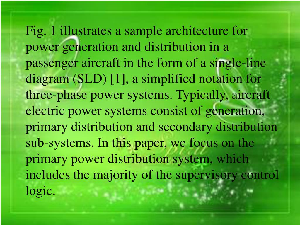 hight resolution of  a single line diagram sld 1 a simplified notation for three phase power systems typically aircraft electric power systems consist of generation