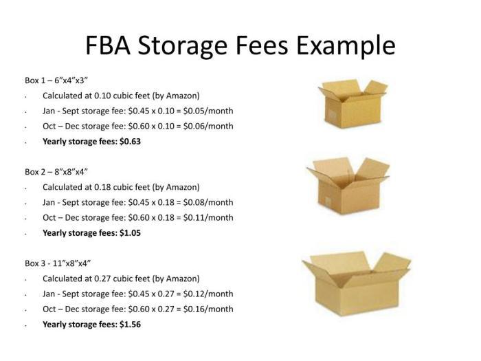 amazon fba storage fees