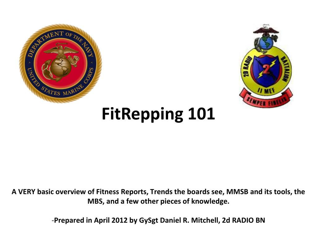 Marine Corps Fitness Report Occasions