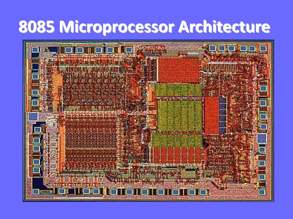 hight resolution of 8085 microprocessor architecture n