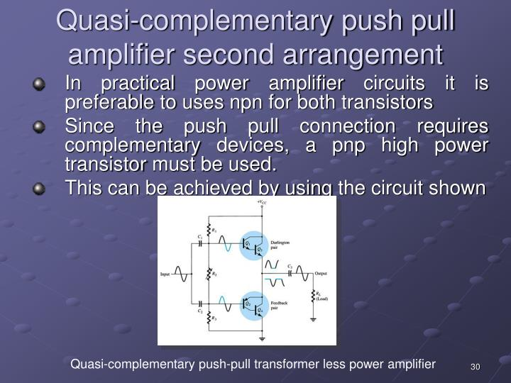Component Push And Pull Amplifier Mosfet Class Ab Push Pull