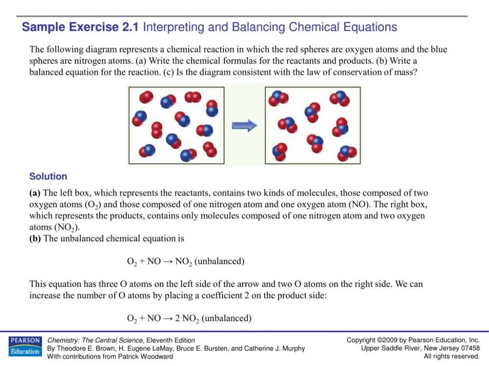 medium resolution of ppt sample exercise 2 1 interpreting and balancing chemical equations powerpoint presentation id 4282926