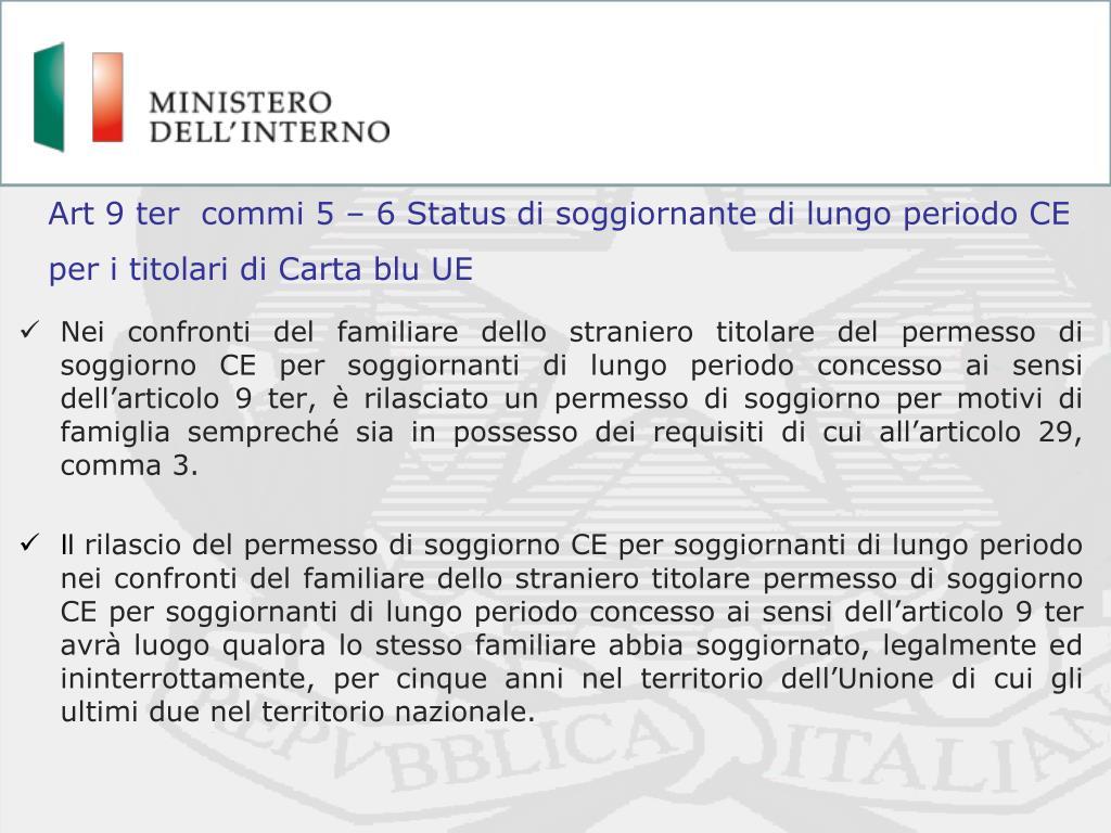 Emejing Carta Soggiorno Requisiti Ideas - House Interior ...